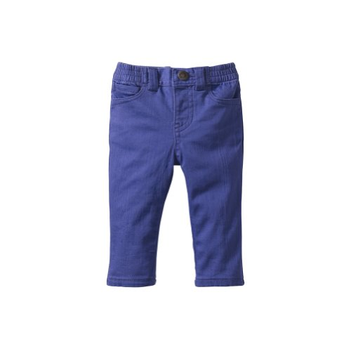 Tea Collection Baby-Girls Skinny Ankle Pants, Majorelle Blue (6-12 Months)