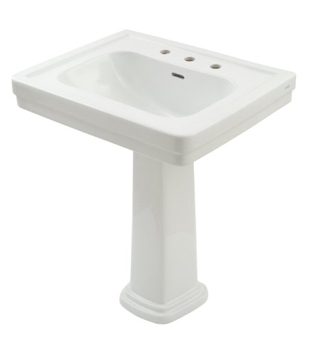 Cheap TOTO LPT530.8N#01 Promenade Lavatory and Pedestal with 8-Inch Centers, Cotton White