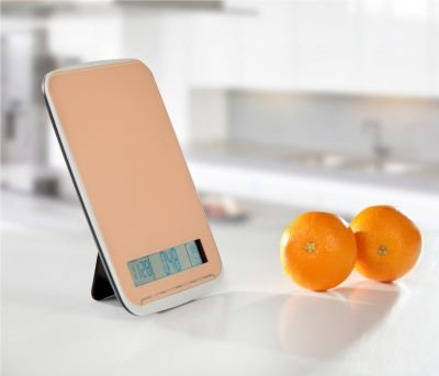 XL balance de cuisine multifonction très pratique-poids: 10 kg-avec surface du verre au design élégant orange &- produit neuf vendu dans son emballage original
