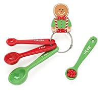 Gingerbread Man Measuring Spoons Adorable Christmas Kitchen Decor