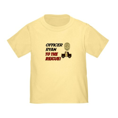 Personalized Ryan To The Rescue Police Officer Policeman Baby Infant Toddler Kids Shirt Customize With Any Boy Or Girls Name, Christmas Present Custom Gift Collection front-938654