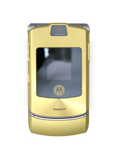 Motorola RAZR V3i Dolce & Gabbana Unlocked Cell Phone with Camera, MP3/Video Player, MicroSD Slot--International Version with Warranty (Gold)