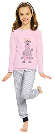 Italian Fashion IF Mädchen Schlafanzug Raspberry 0223 (Rosa, 86)