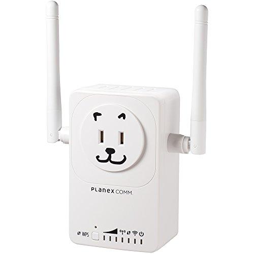 PLANEX 11ac 無線LAN中継機 忠継大王 MZK-EX750NP コンセント直挿し型 ソケット一口追加 見えルンです対応