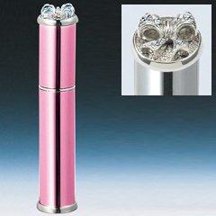 ヤマダアトマイザー メタルアトマイザー メタルポンプ 35125 15mm径 ピンク ラインストーンリボン 3.5ml
