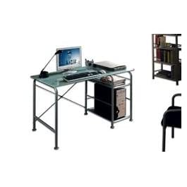 Scrivania per PC in metallo e Vetro