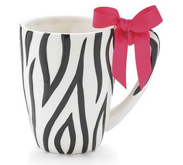 Zebra Print Ceramic Coffee Mug