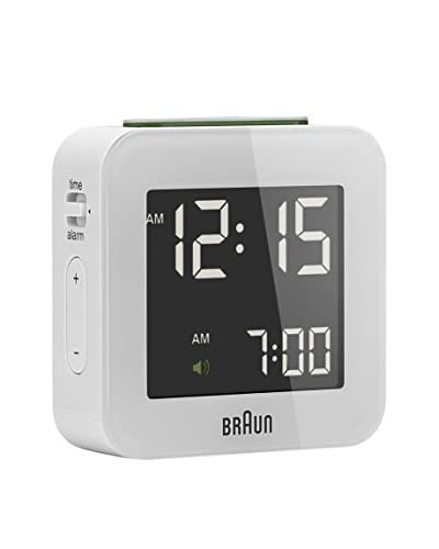 Braun Reloj despertador BNC008WHWH Blanco