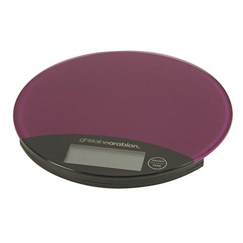 Ghislaine Arabian GA1016V Balance Alimentaire Verre Violet 19 x 19 x 2 cm