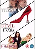 Titanic - Kate Winslet Leonardo DiCaprio / The Devil wears Prada / In Her shoes DVD Set
