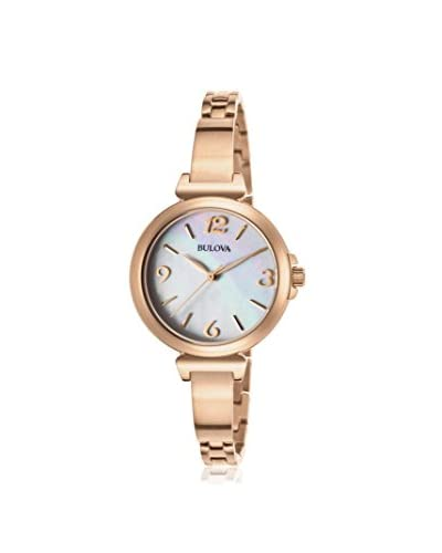 Bulova Women's BUL-97L137 Rose Tone/Mother Of Pearl Stainless Steel Watch