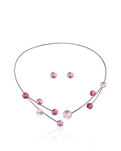 Bohemian Love Story Conjunto de cordón y pendientes Rivoli Collar Rosa 44 cm