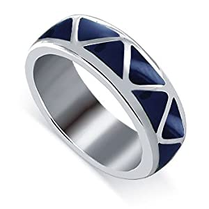 Sterling Silver 6mm Wide Lapis Gemstone Southwestern Band Ring Size 7