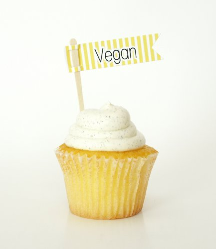 """""""Vegan"""" Allergy Labels, Yellow (Set Of 12) - Classify Specialty Items Like Dairy-Free For Party Guests front-706608"""