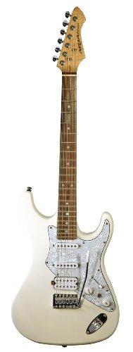 Aria 714 serie Standard - Chitarra elettrica, Bianco vintage