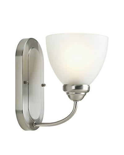 Progress Lighting Heart 1-Light Vanity Light, Brushed Nickel