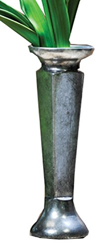 Caffco International Aged Pewter Style Vase