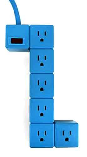Kikkerland UL06-A Blok Power Strip, May Vary