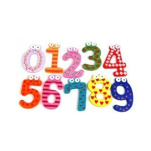 SODIAL Funky Fun Colorful Magnetic Numbers Wooden Fridge Magnets Kids Educational toys
