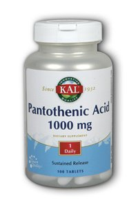 Pantothenic Acid 1000Mg Timed Release Kal 100 Tabs