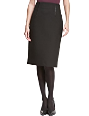 Autograph Knee Length Textured Ponte Pencil Skirt
