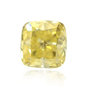 Yellow Loose Diamond Cushion Cut Natural Fancy Color GIA Cert 1.16 Carat VS1