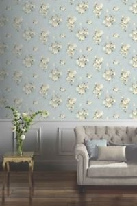 Arthouse Isadora Wallpaper - Duck Egg by New A-Brend