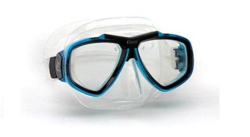 Cressi Focus 2-Lens Diving Mask (Clear/Aqua)