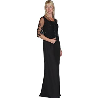 Mother of Bride Groom Evening Dress by Sean Collection (7253), 8, Black