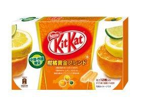 Japanese Kit Kat – Kankitsu (Citrus Mix) Chocolate Box 5.2oz (12 Mini Bar)