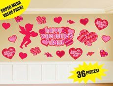 Valentine's Day Cutout Value Pack 36 per pack