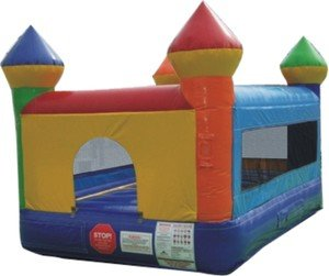 Bounce House Inflatable Indoor Castle Moonwalk Includes (1) 1.0 Hp Blower And Free Shipping