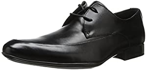 Calvin Klein Men's Geoff Leather Oxford, Black, 7 M US