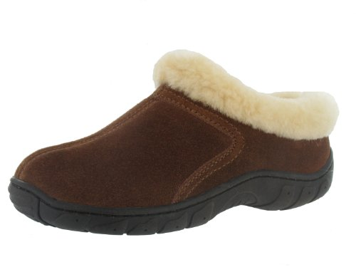 Image of Valerie Australian Sheepskin Suede House Bed Slippers Clog Women's (B00687750M)