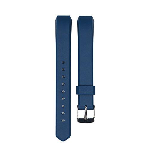 WEINISITE Silicone Remplacement de Bracelet Pour Fitbit Alta (Marin Bleu, Taille unique)
