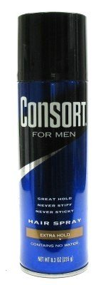 Consort Hair Spray 8.3 oz. Extra Hold Aerosol (3-Pack) with Free Nail File