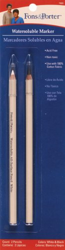 Fons and Porter Watersoluble Marker, Black and White, 2 Count