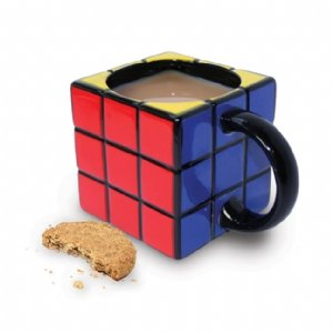 Taza de café en forma de Rubik - Rubik's Cube Ceramic Coffe Mug / Cup, Gift Boxed Precio: $13.33