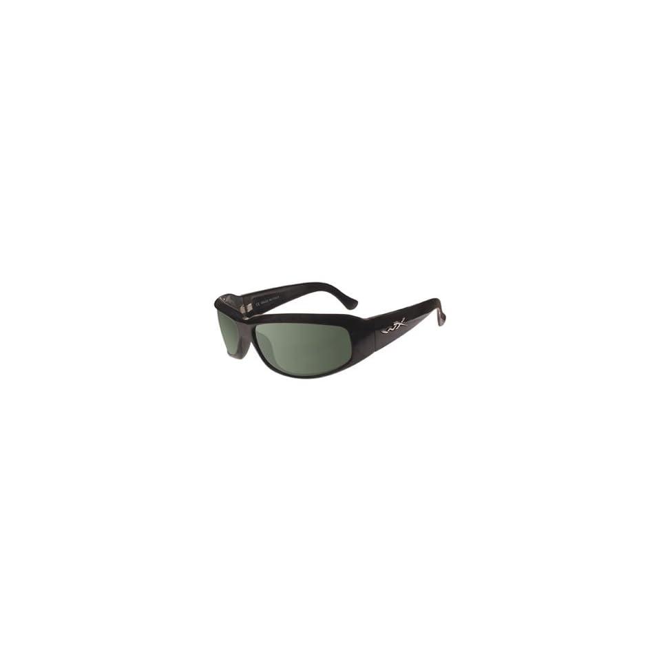 0012d056fd8 Wiley X Skyee Sunglasses Gloss Black w Polarized Smoke Green Lens on ...