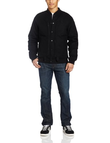 Crooks and Castles Mens Woven Jacket Akuma Black: Large