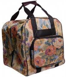 Hemline Cream Floral Serger Tote Bag by hemline