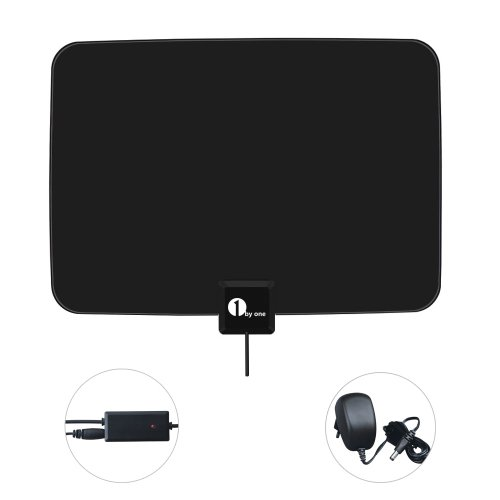 "Why Choose 1Byone® 0.03"" Paper Thin Digital Indoor TV Antenna Aerial Ultra Thin Lightweight So..."
