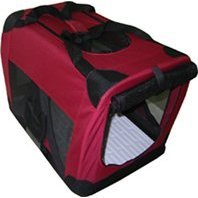 "Maroon Pet Cat Dog Soft Crate/Carrier For Travel, Indoor And Outdoor *Small* L20""Xw14""Xh14"""