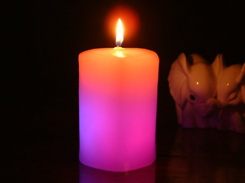 Glo-Wax Heart Shaped Colour Changing Dreaming LED Magic Candle