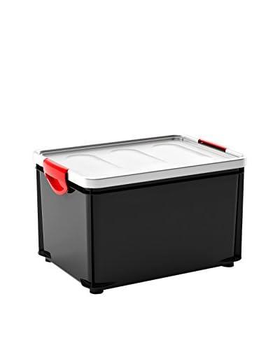 Kis Set Contenitore Organizzazione Spazi 3 pezzi Clipper Box L Grigio Scuro