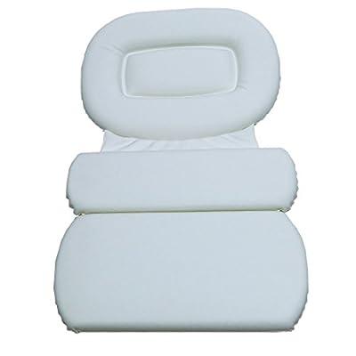 Richards Homewares 3 Panel Spa Bath Pillow, White