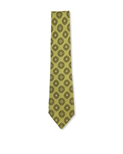 Kiton Men's Medallion Tie, Olive Green