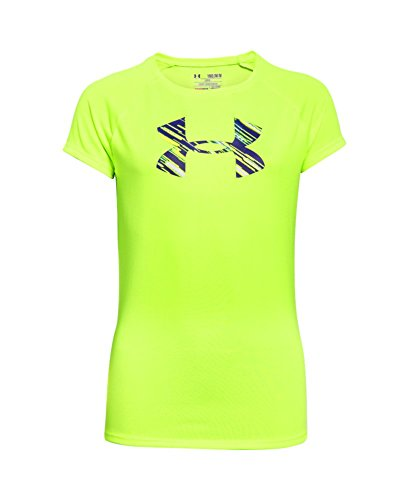 Under Armour Girls' Big Logo T-Shirt, Fuel Green (363), Youth Small