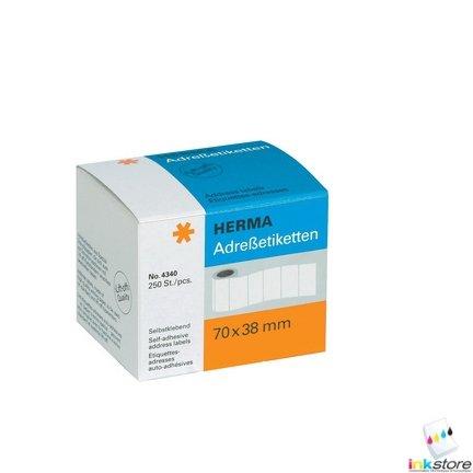 HERMA Etiquettes-adresses, 89 x 42 mm, en continu, blanc