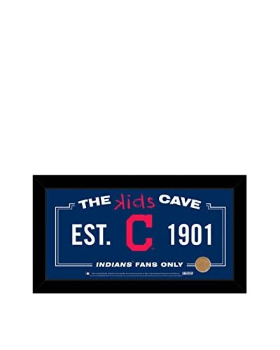 Steiner Sports Cleveland Indians Kids Cave Sign with Game-Used Dirt From Progressive Field